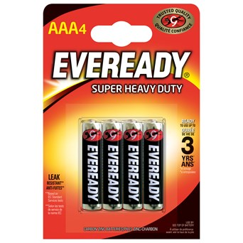 Eveready Super Zinc Aaa Batteries 4s (EVR03SUPERB4)